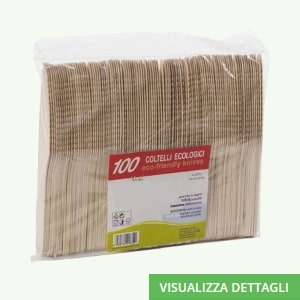Coltelli biodegradabili in legno di betulla DIGLASS