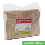 Foechette biodegradabili in legno di betulla DIGLASS