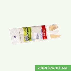 Kit posto tavola forchetta-coltello-tovagliolo biodegradabili in legno di betulla DIGLASS