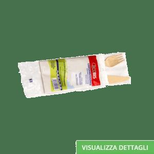 Kit posto tavola biodegradabili in legno di betulla DIGLASS