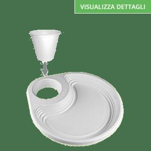 Piatti portabicchiere biodegradabili e compostabili in polpa di cellulosa DIGLASS